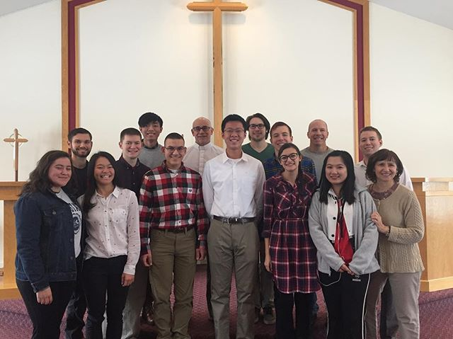 Special day with Haotian (Tim) Fang's baptism!