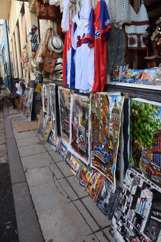 Beautiful Art lining Calle Del Obispo