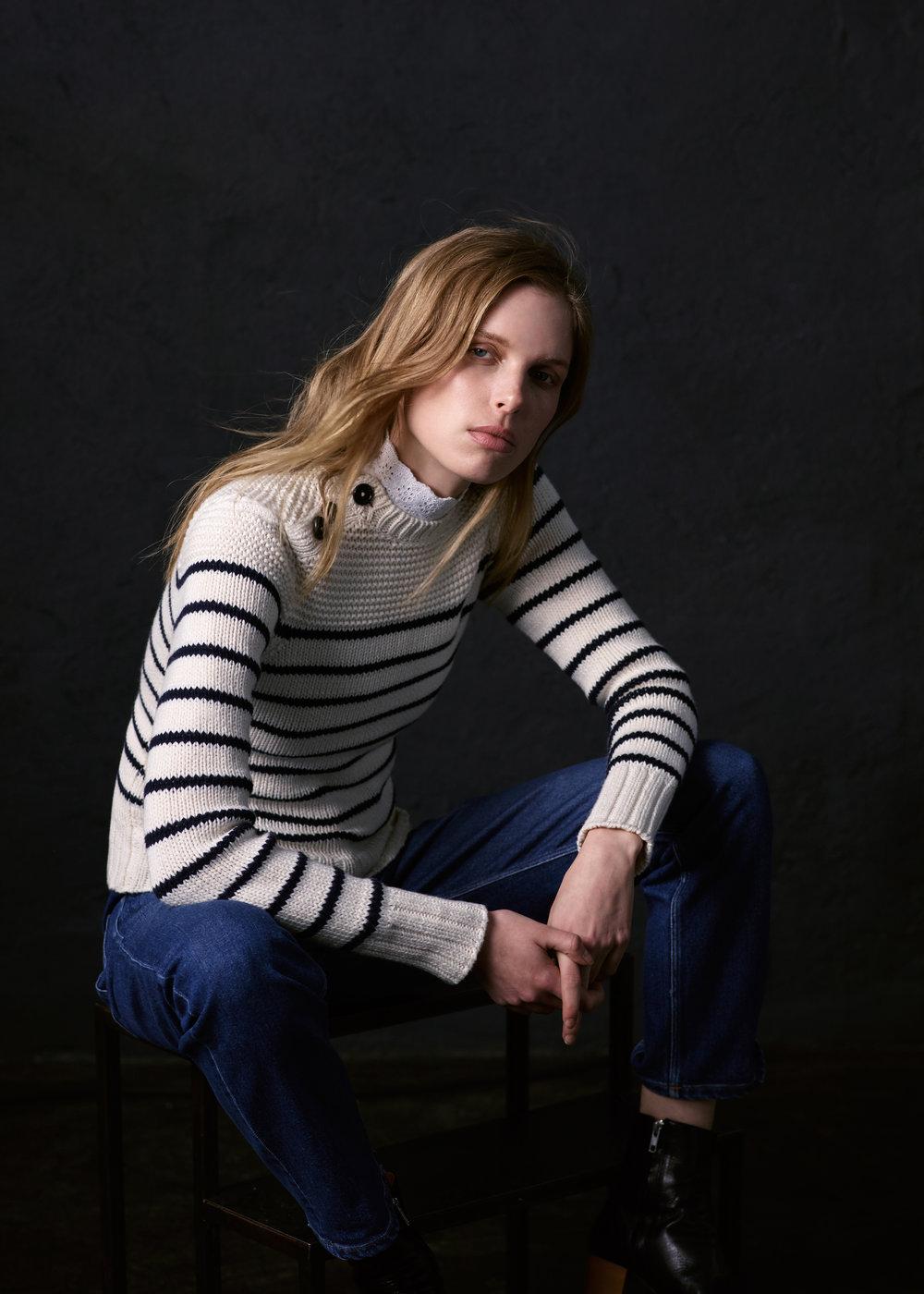 Rebecca Taylor La Vie Cotton Stripe Pullover, $295, at RebeccaTaylor.com