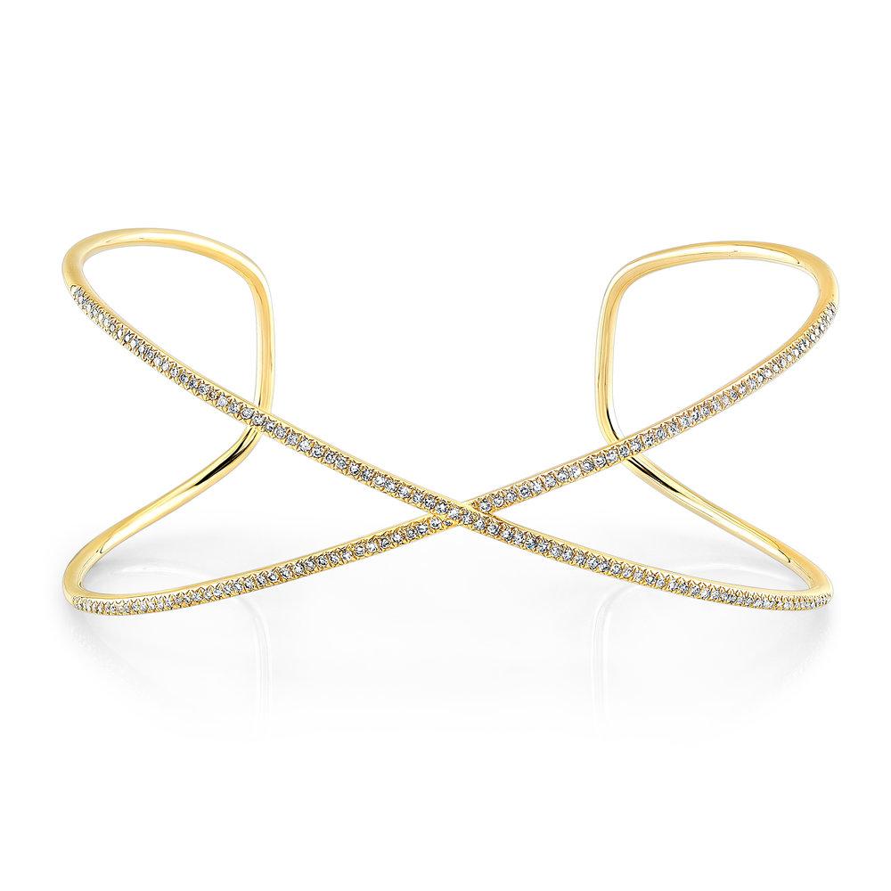 X Cuff Bracelet, $1800