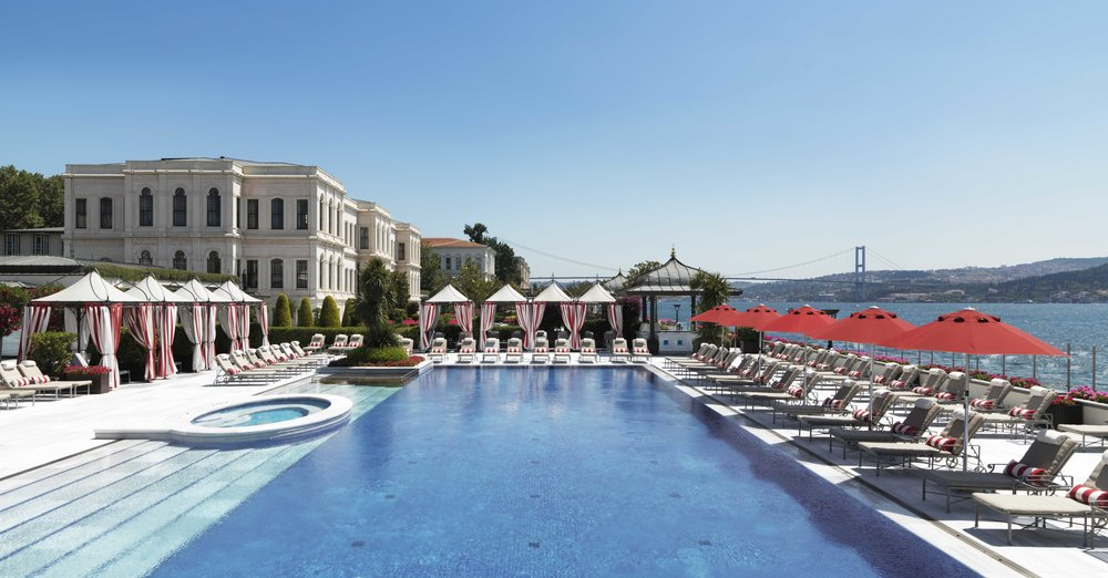 The tranquil swimming pool at the Four Seasons Hotel Istanbul at the Bosphorus. Photo courtesy of Four Seasons Hotel Istanbul at the Bosphorus