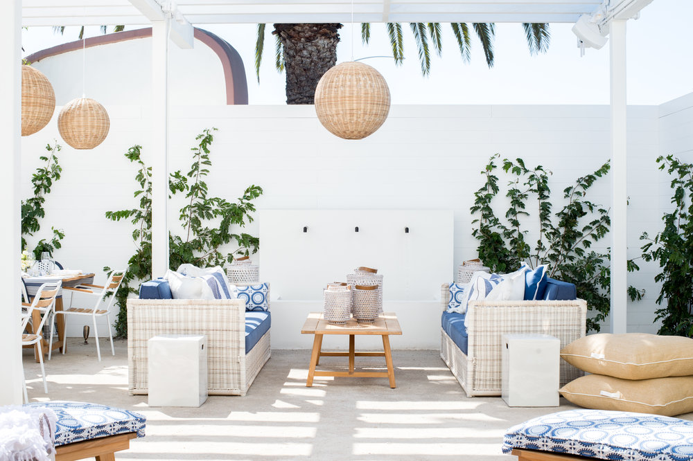 The Newport Beach Design Shop features outdoor living