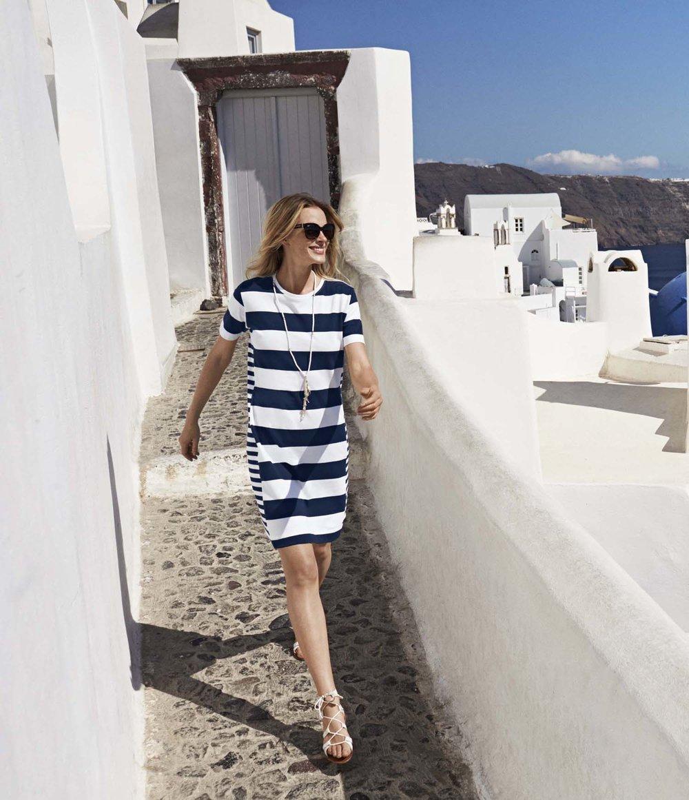 Tommy Bahama Thera Stripe T Shirt Dress,$118,at TommyBahama.com