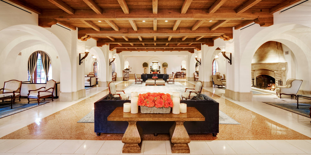 The resort's expansive and beautifully-appointed lobby. Photo courtesy of Bacara Resort & Spa