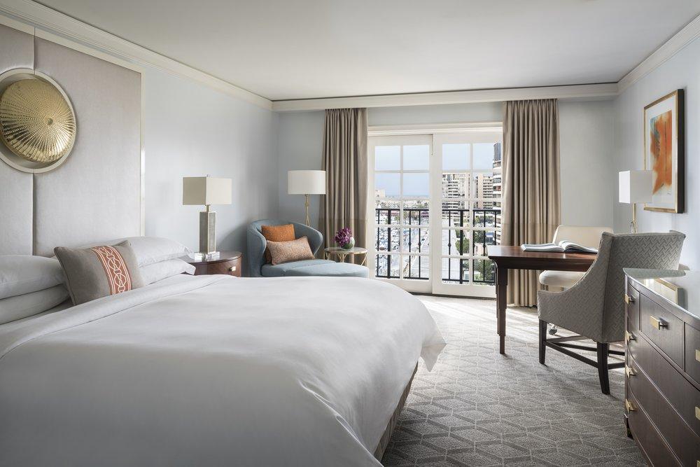 Deluxe King room.Photo courtesy of The Ritz-Carlton, Marina del Rey