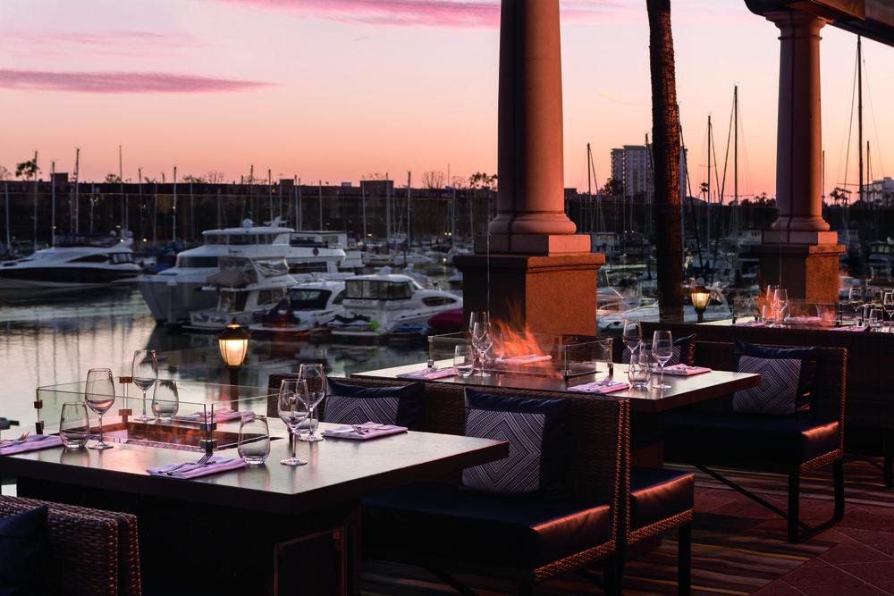 Seaside dining at The Ritz-Carlton, Marina del Rey. Photo courtesy of The Ritz-Carlton, Marina del Rey