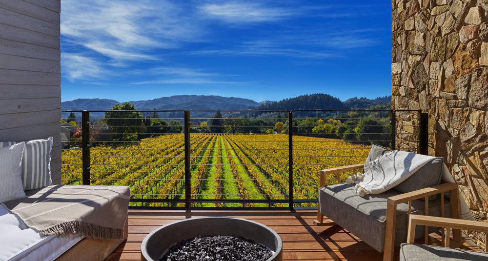 Room with vineyard views