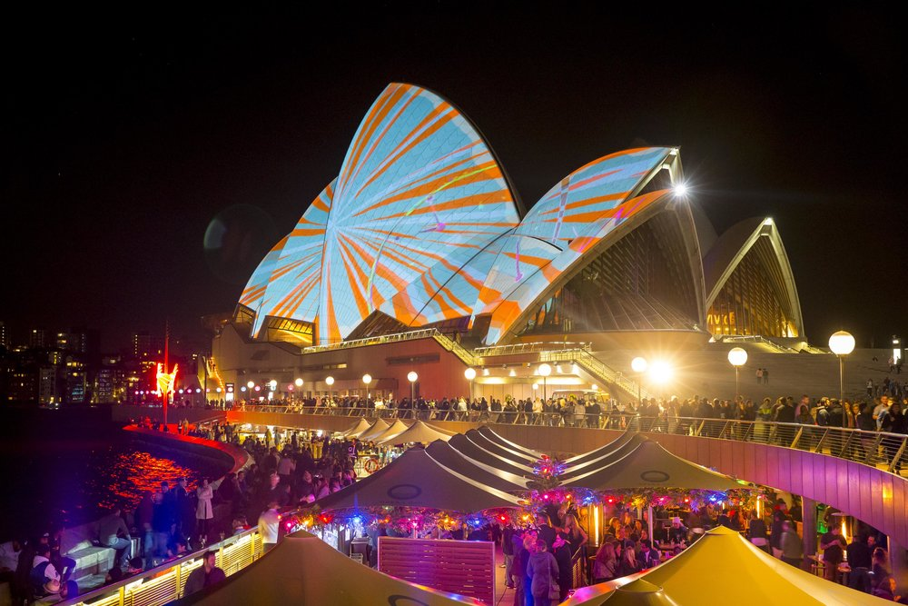 Vivid Sydney's annual Fall light-as-art display is breathtakingly beautiful. Photo courtesy of Vivid Sydney