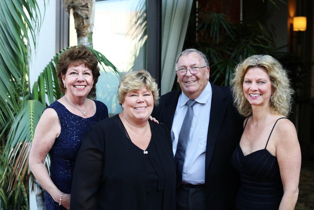 Susie Perry, Sally Segerstrom Andrews, Toby Andrews and Sandy Segerstrom Daniels