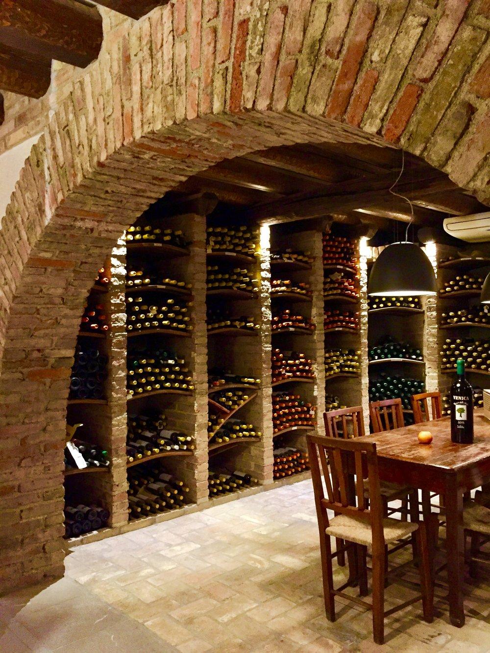 Wine cellar at Venica & Venica