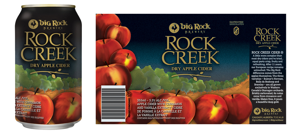 The rebrand for the new Rock Creek Cider Range