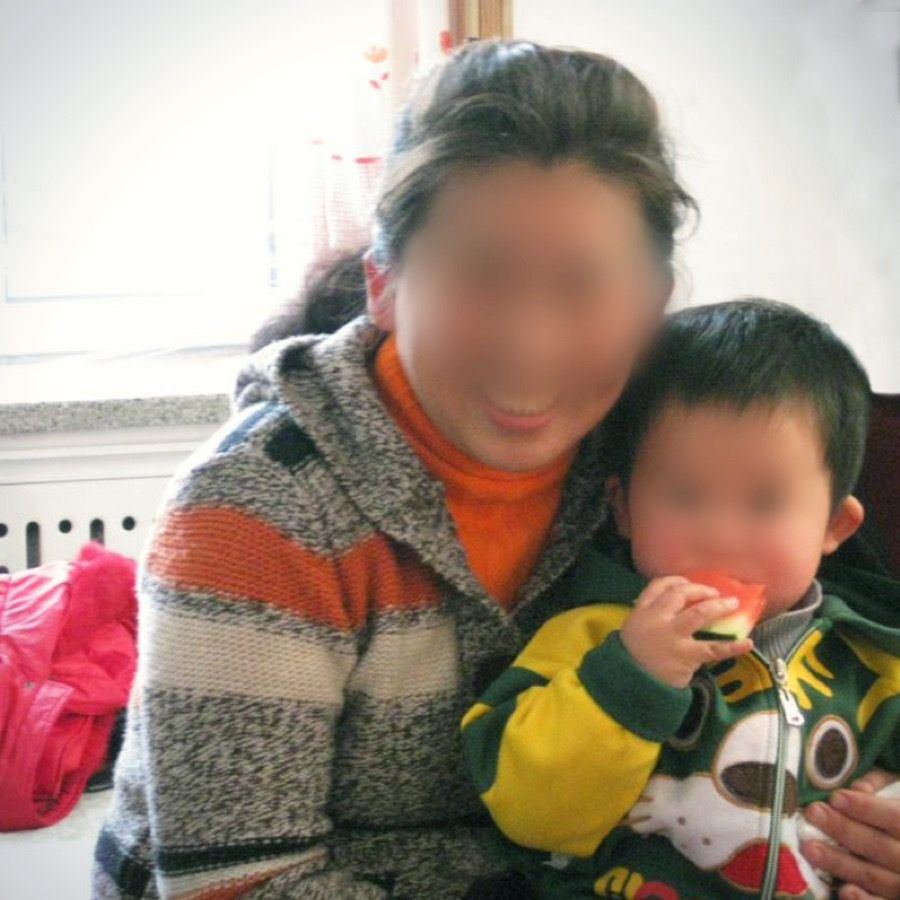 Ok-seo and her son living in China.