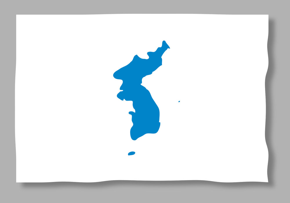 The Korean unification flag (above) will be used as the two Koreas march together at the opening ceremonies of the 2018 Winter Olympics in PyeongChang, South Korea.