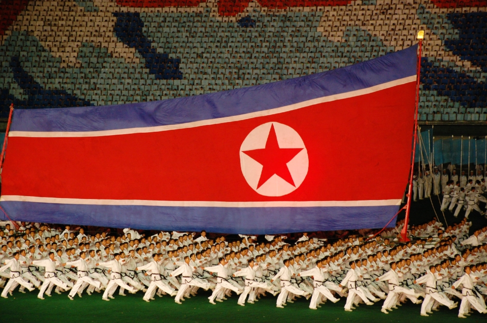 A presentation at North Korea's Mass Games in Pyongyang.