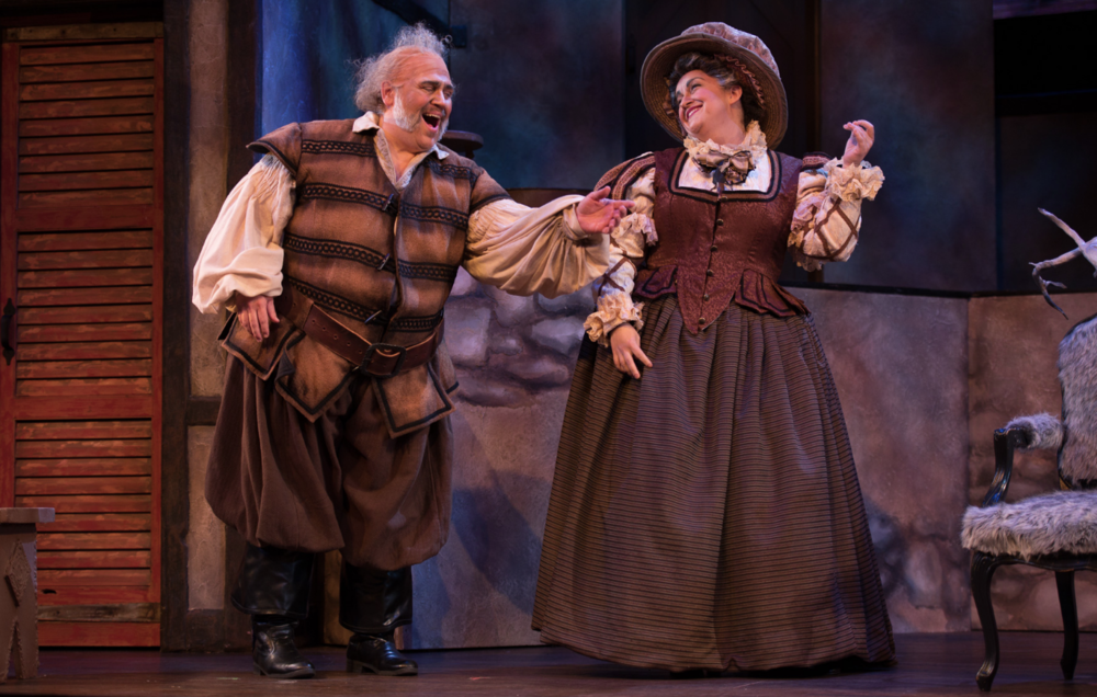 Opera Delaware, Falstaff and Dame Quickly. Photo: Joe del Tufo, Moonloop Photography.
