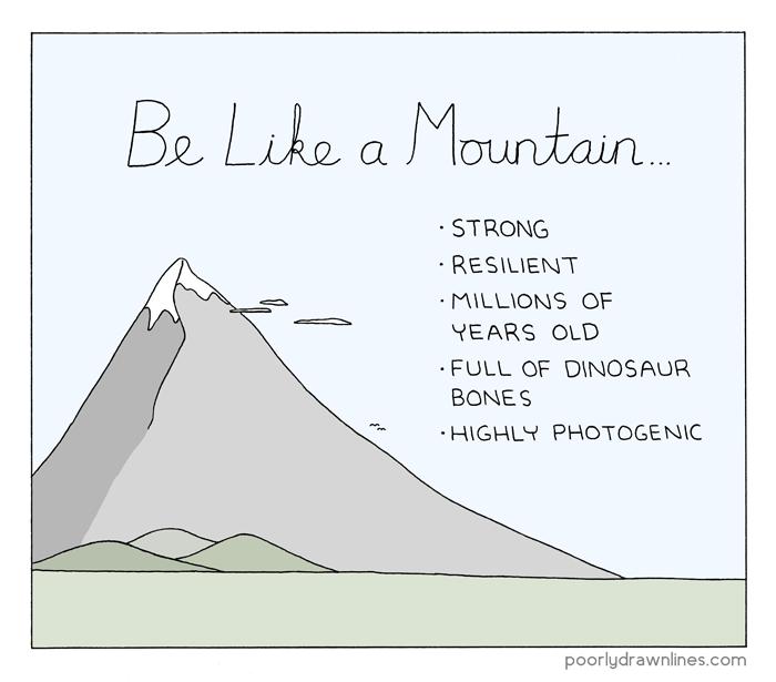 pdlcomics :    Like a Mountain