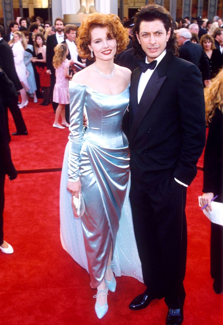 oldloves :   Geena Davis & Jeff Goldblum at the 1988 Academy Awards     I have had both these hairstyles at various points in my life.