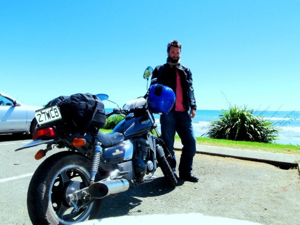 Touring the East Cape of New Zealand with Elle, my Kawasaki 250 Eliminator, before my departure, February 2010 - cjG
