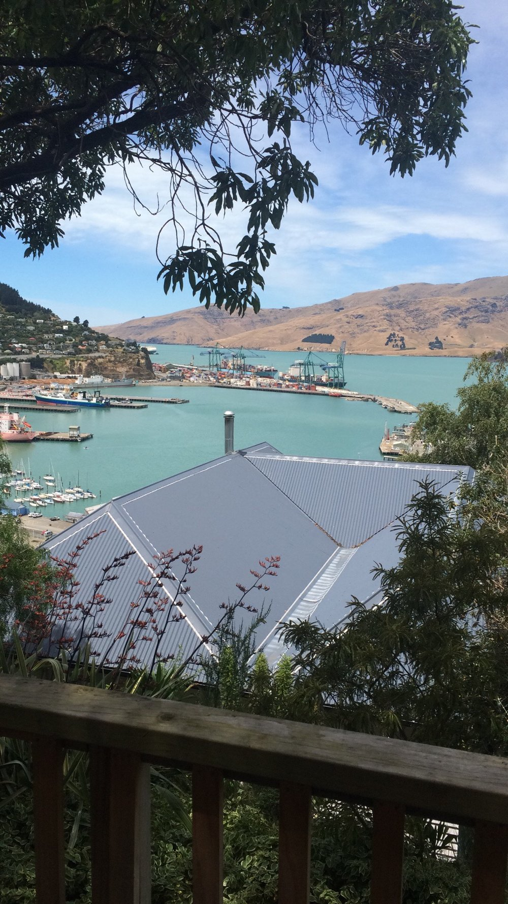 My view from 40 Cressy Terrace over the harbour, in Lyttelton. - cjG