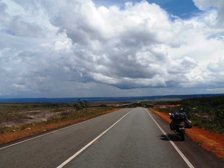 Big sky. The Venezuelan savannah which stretches for miles and miles and miles.