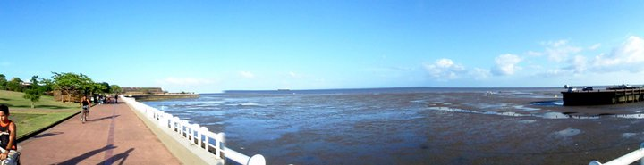 The waterfront parks of Macapa, on the banks of the Amazon delta - cjG