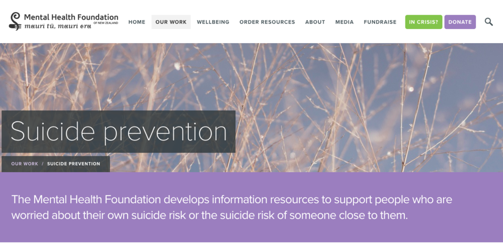Most people who attempt suicide don't want to die – they just want their pain to end or can't see another way out of their situation. Support from people who care about them, and connection with their own sense of culture, identity and purpose, can help them to find a way through.  Click here for more info or to find a way through.