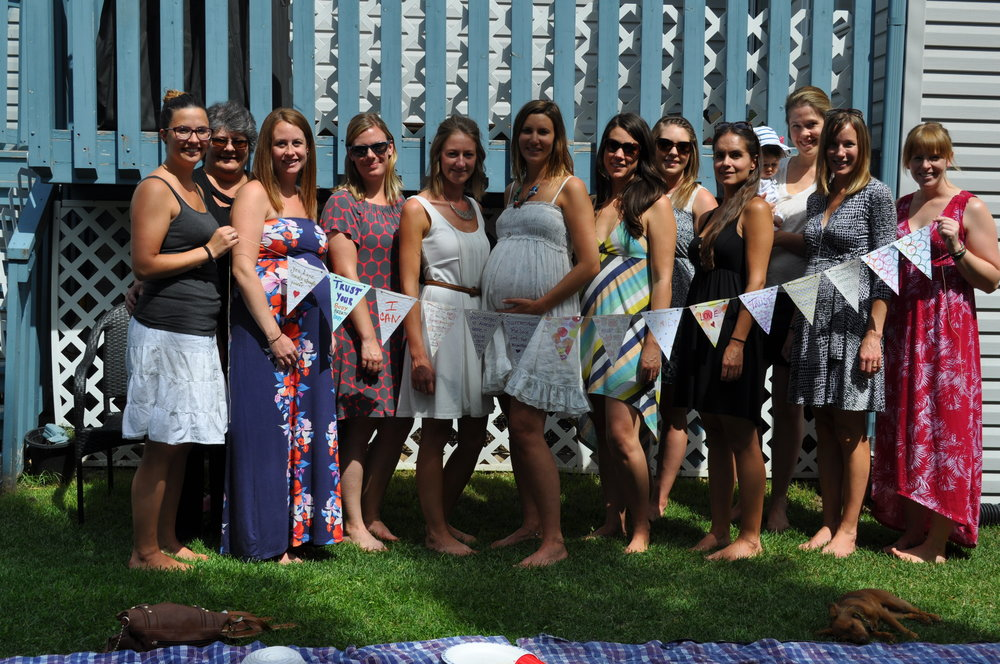 This is me and some of the most important women in my life during my pregnancy who joined together to support me during a Mother Blessing. This day was FULL of affirmations and had a huge impact on my own internal dialogue for my labour and birth. I am so grateful for having had this experience to prepare me in such a positive and empowering way.