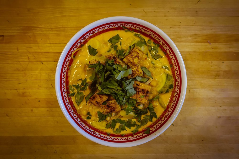 squash curry tofu coconut noodles