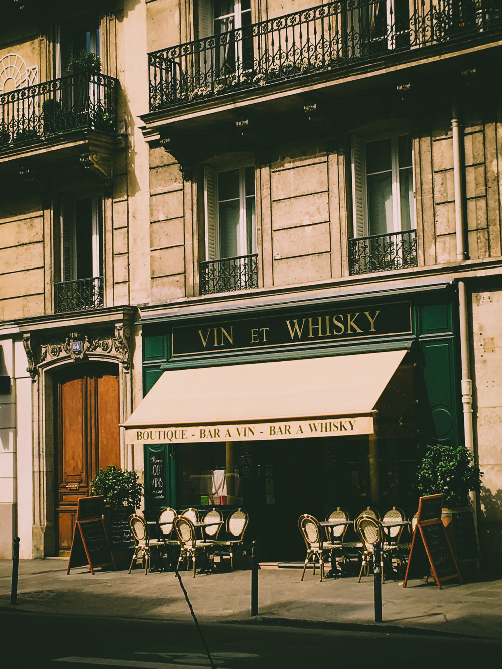 The adorable bottle shop and wine bar in our neighborhood near Rue   Lacépède