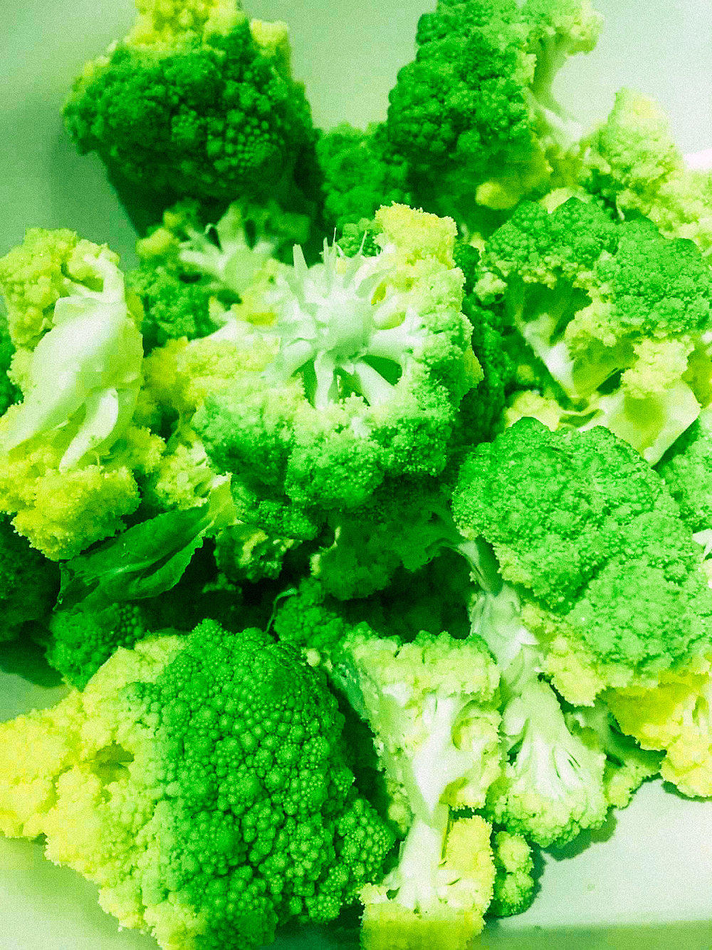 The romanesco was so beautiful at Pike Place Market, I couldn't resist substituting this for cauliflower in the recipe. It was amazing!
