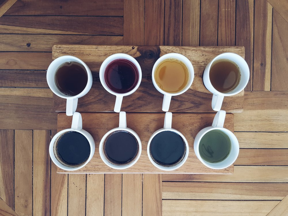 Luwak Coffee and Tea Flight