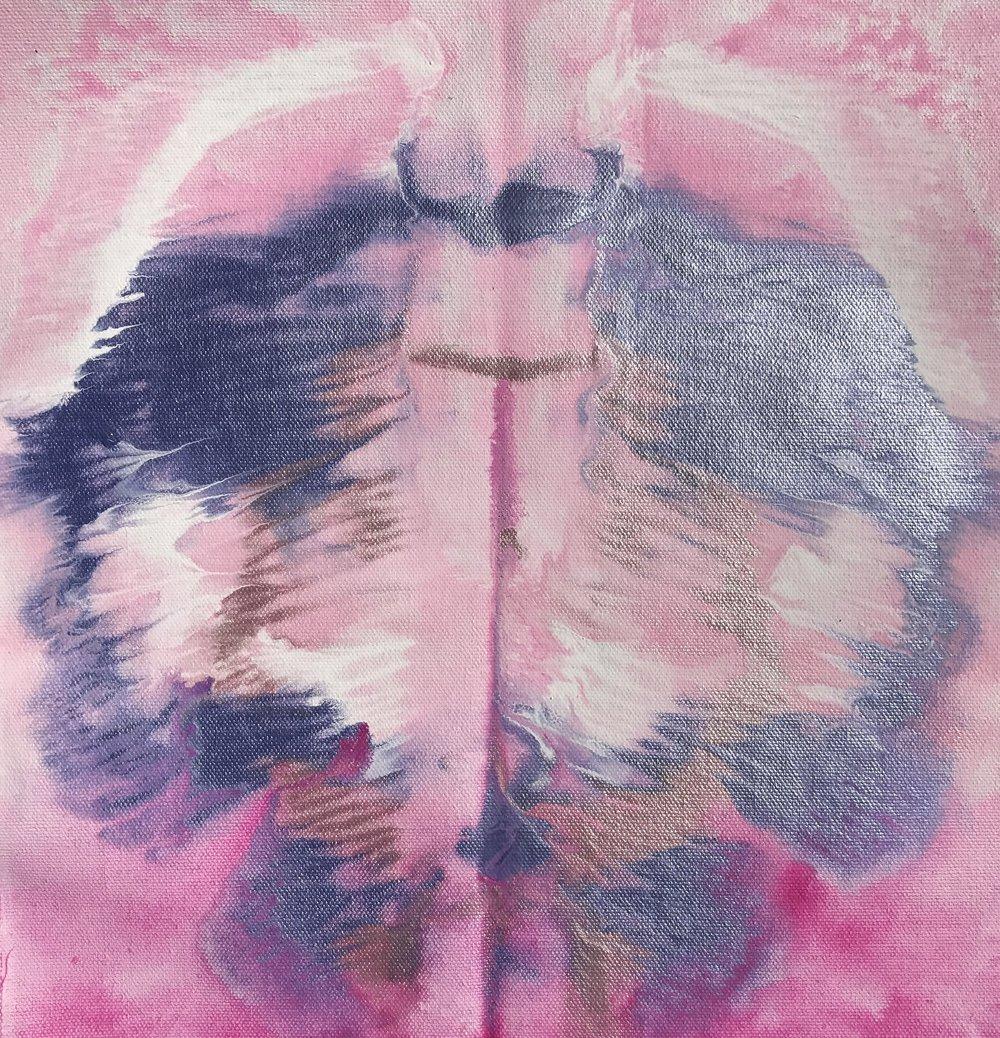 Décolletage acrylic on canvas