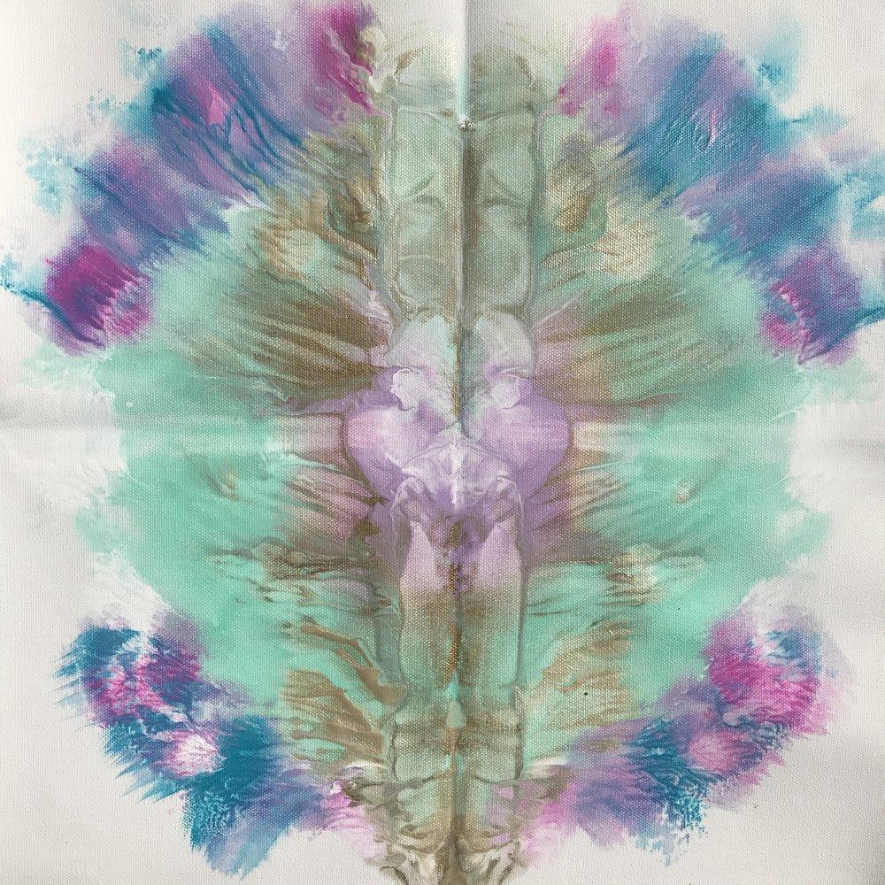Sea Blossom acrylic on canvas