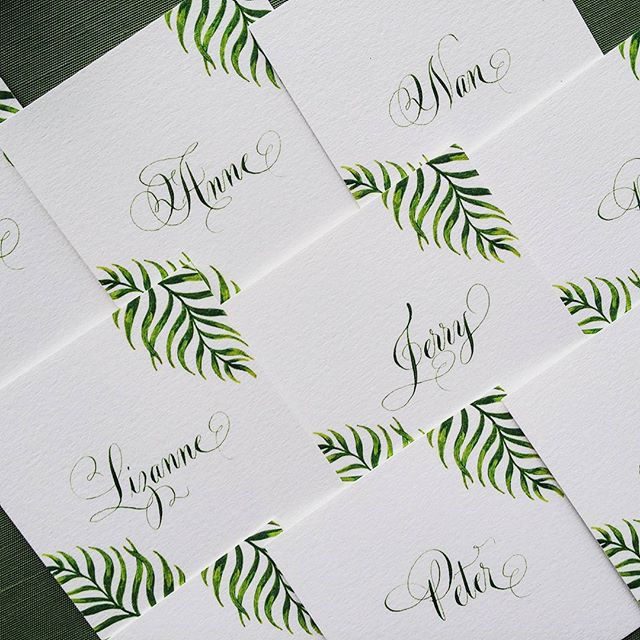 Really enjoyed working on these place cards for a special Key West wedding! #weddings #weddingstationery #keywestwedding #calligraphy #handwritten #arzberger