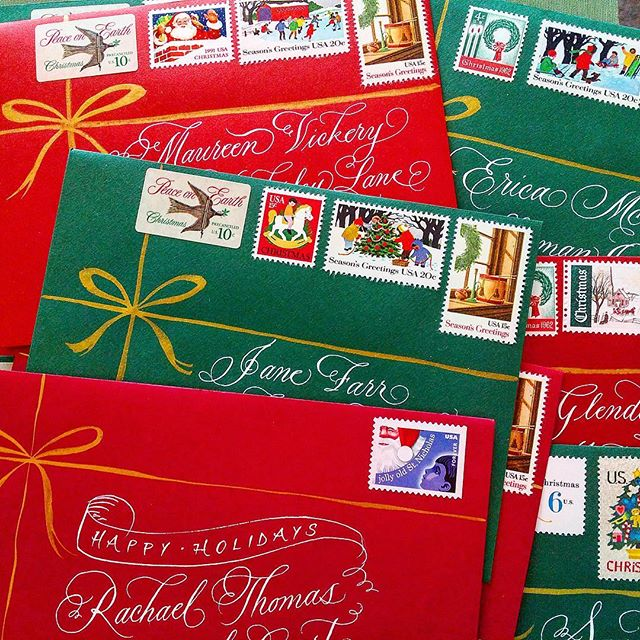 Tis' the season to send snail mail! I didn't get a chance to finish sending cards this year but every holiday could use pretty snail mail.  #flourishforumexchange #snailmaillove #merrychristmas #handwrittenwithlove