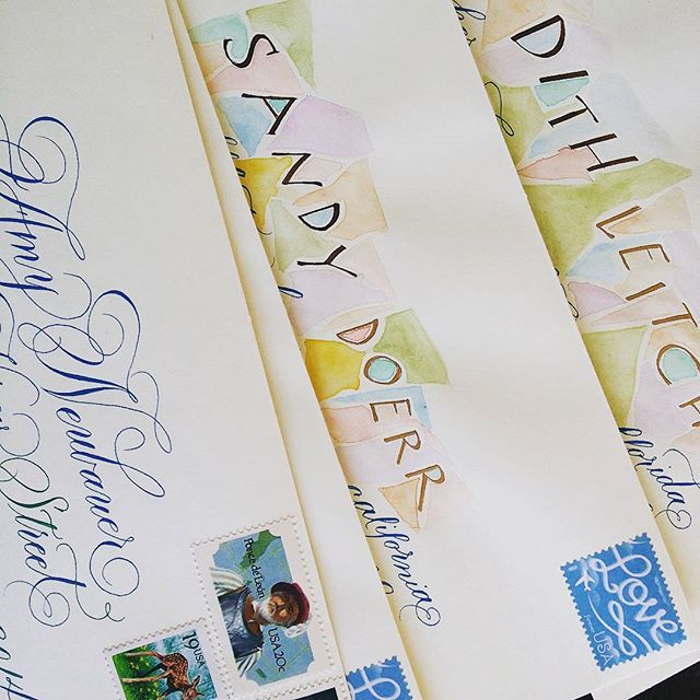 Outgoing mail earlier this month #snailmaillove #handwritten