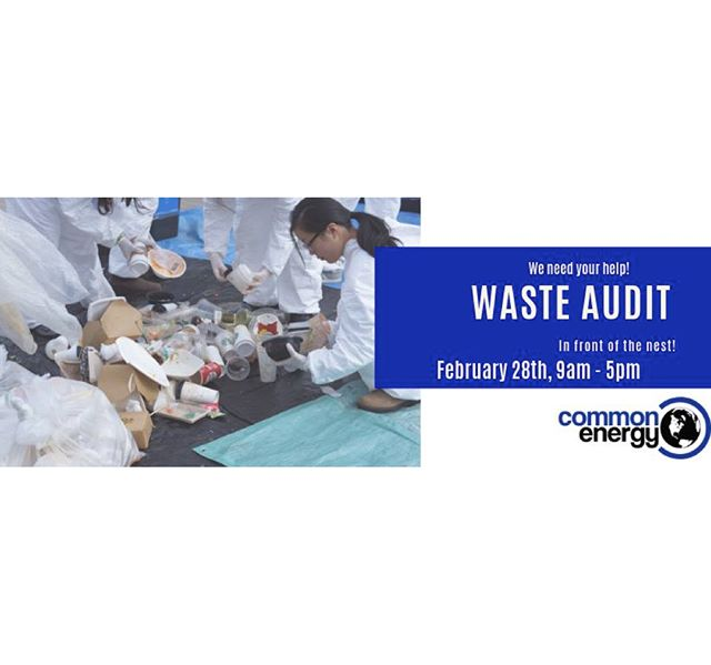 Come out and support our friends @commonenergyubc at their annual waste audit on February 28th outside the NEST! 9 am - 5 pm Register to volunteer here https://goo.gl/forms/rqIK1dPqIT8RrCWL2 and help UBC collect data to improve waste sorting habits and landfill diversion rates on campus!  There will be free coffee (bring your own mug!) and Sprouts brownies for all volunteers 😊☕️🌱 This is a fun way to get involved and learn more about waste within our community - get amongst it ! #ubc #commonenergy #reduce #reuse #recycle #rethink #plastic #sustainability  #community