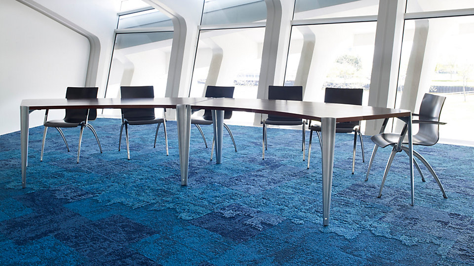 Interface carpet is made using upcycled nylon fishnet collected from beaches in the Philippines  (image courtesy of Interface  )