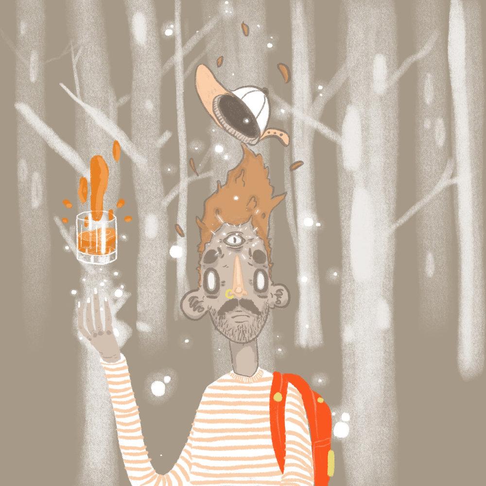 Bradlye Knudsen EP - Art by Trashpaca