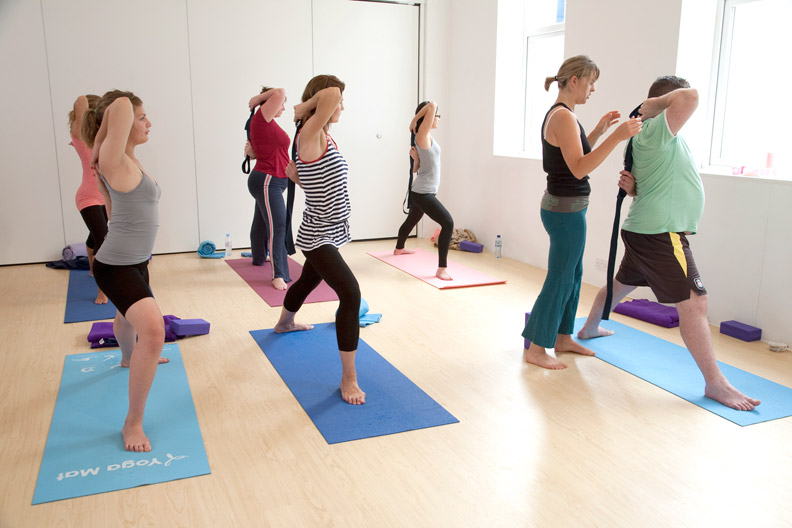 Sandra Robinson teaching yoga.jpg