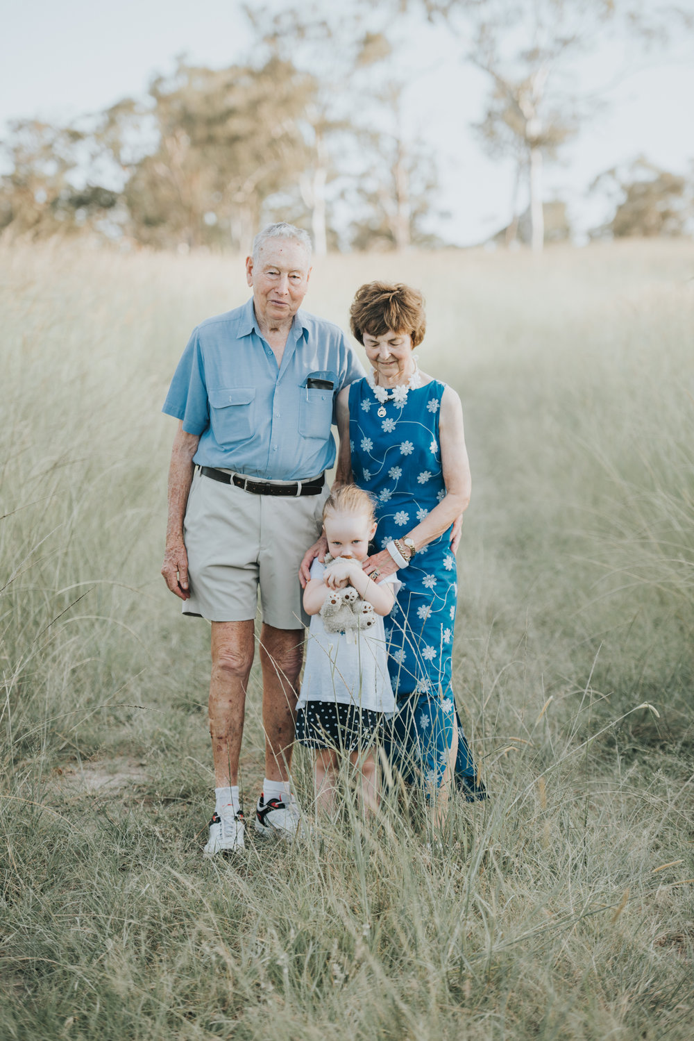 Granddaughter with grandparents beautiful portrait | Sirromet Winery | Lightsmith Images
