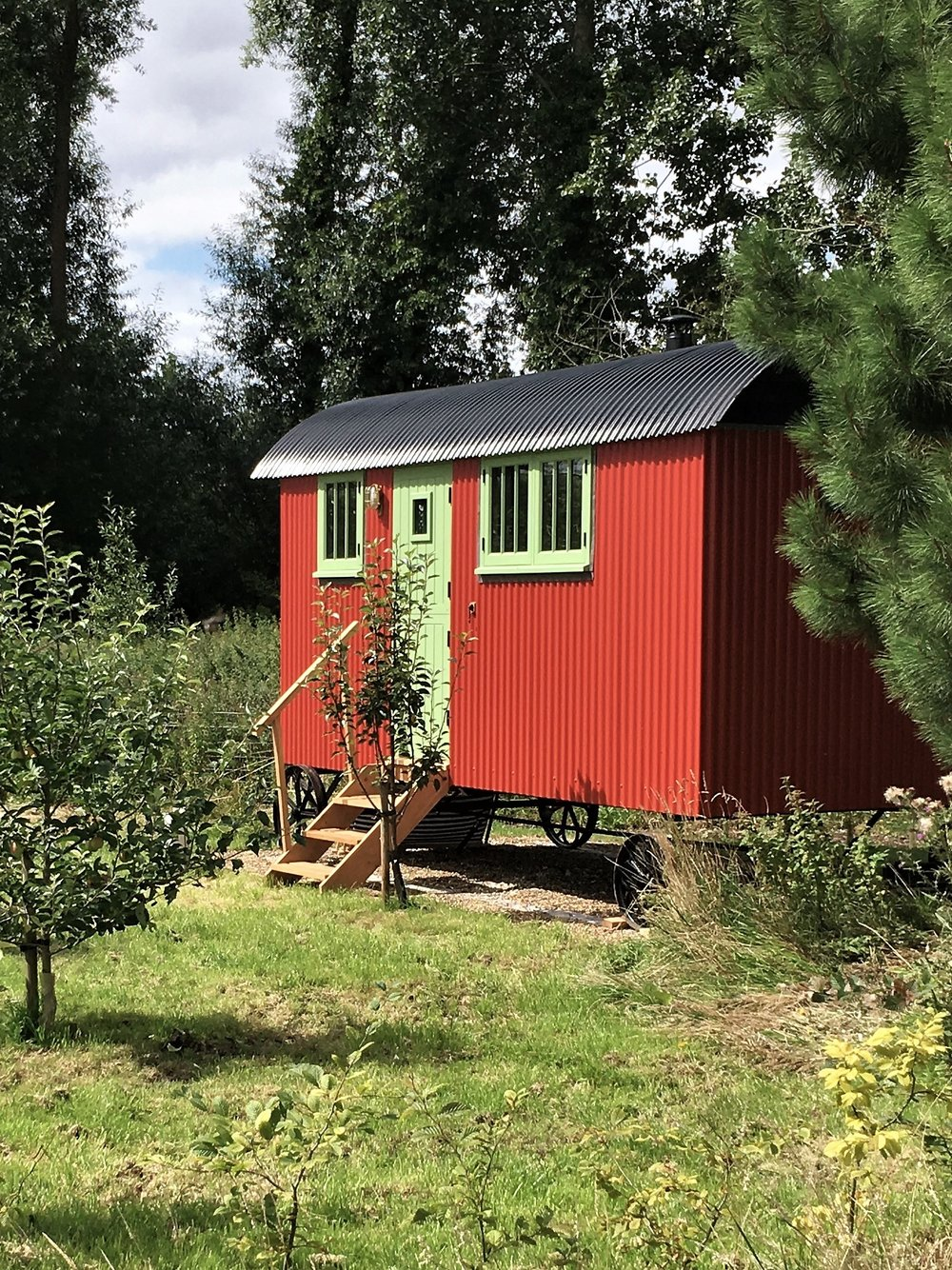 Painted in falu red, the interior is full of scandinavian style icons -