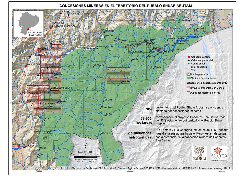 Mapa elaborado por Fundación ALDEA