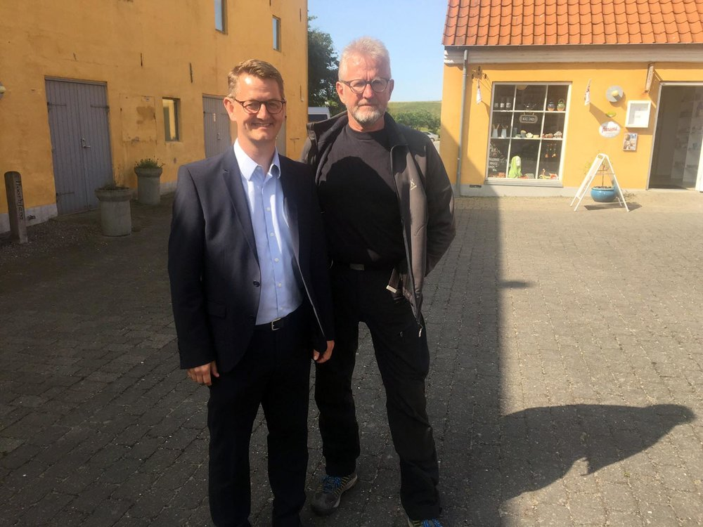 Politiker Torsten Schack Pedersen, Venstre og Leder af Nordvest Safari Thy-Mors, Michael Ruby