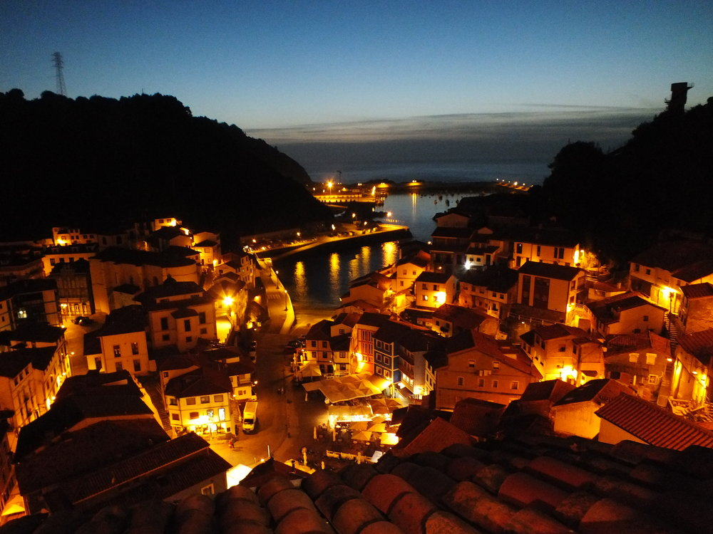 Cudillero at night