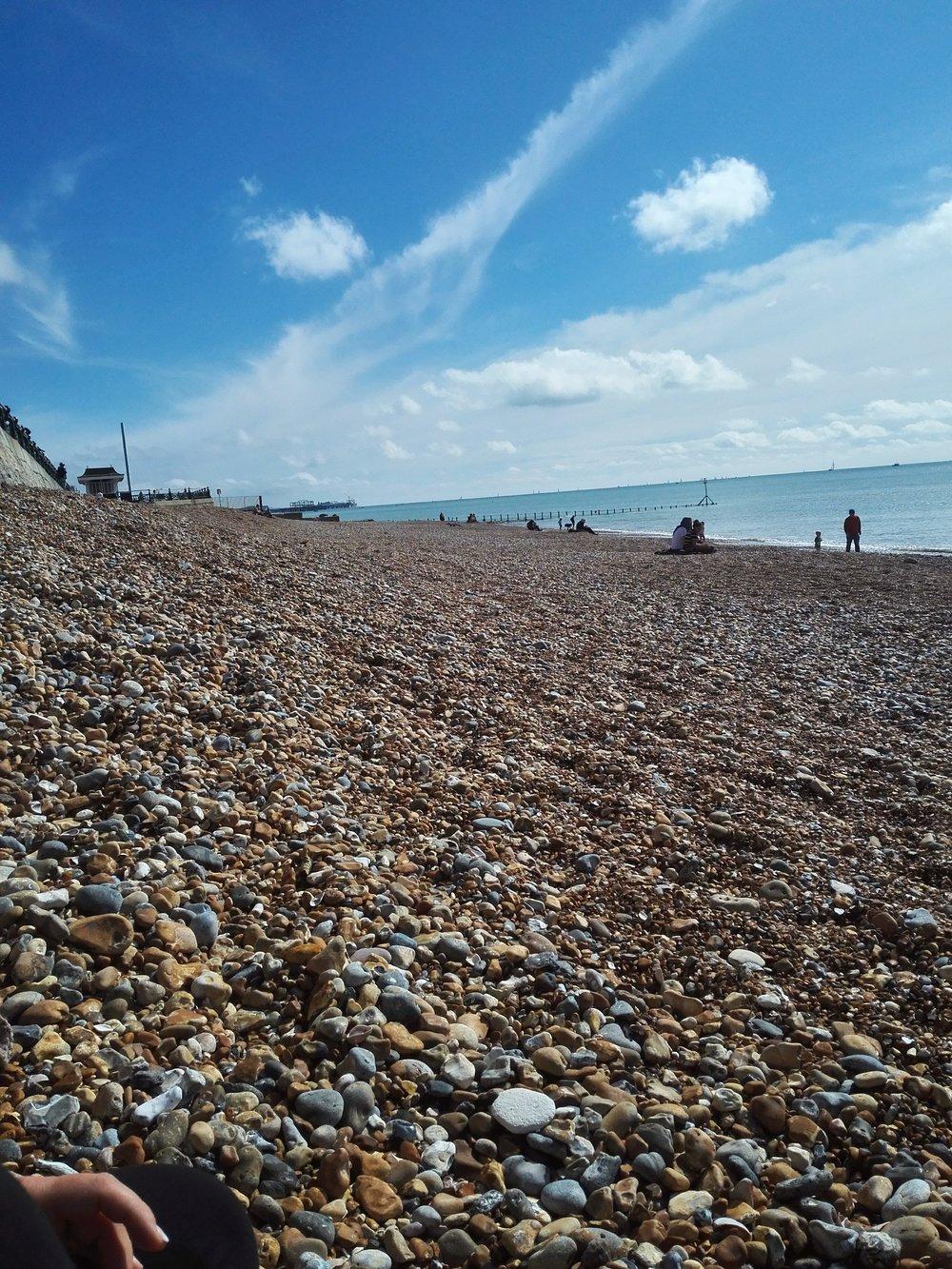 Sunday morning beach stroll