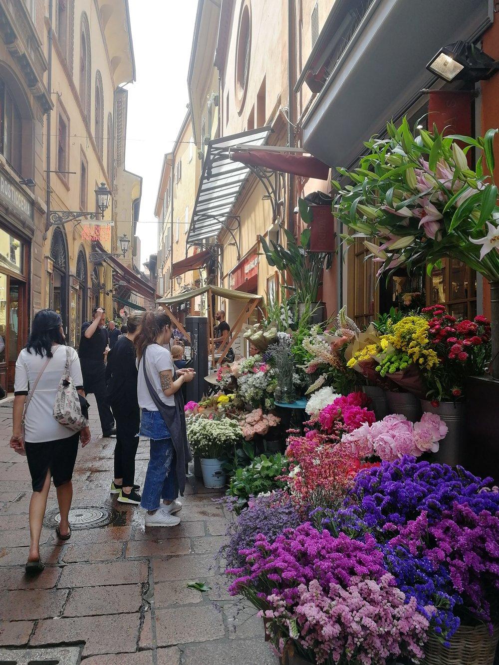 Beautiful flower stall
