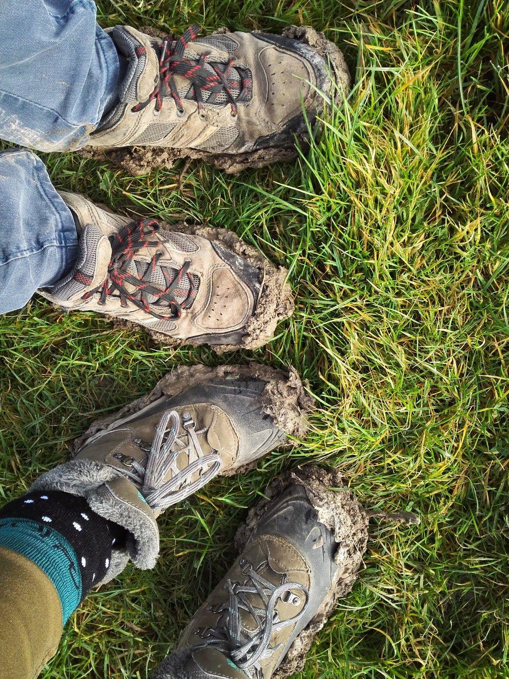 Sludgy mud a lot of the way