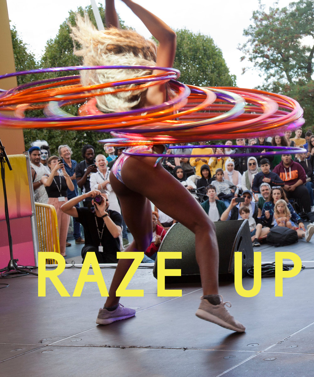 Symoné performing with Cocoa Butter Club at Raze Weekender  Photo by Holly Revell