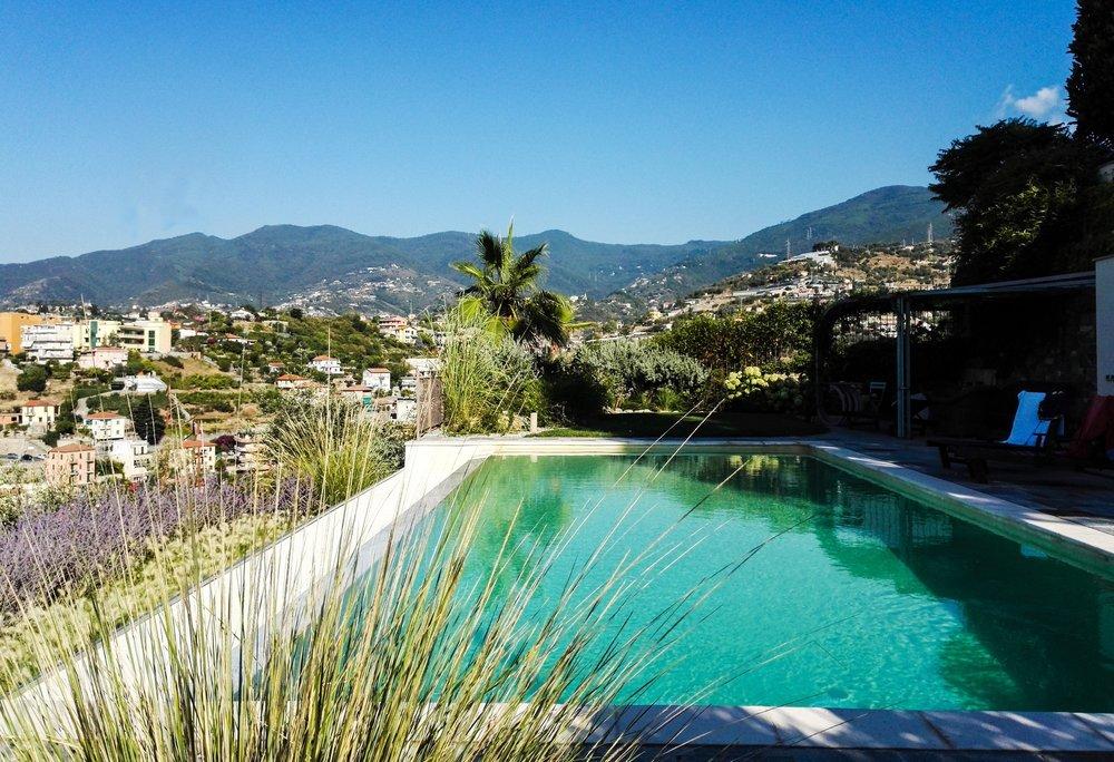 Giardino con piscina Sanremo - Imperia